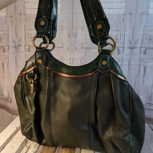 Vera Wang tote purse bag tote case handbag green s